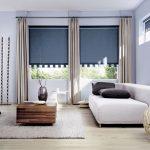 Фото 1602: Рулонные шторы в интерьере современной гостиной