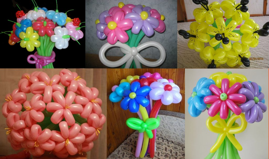 Своими руками сделать цветок из шаров 55