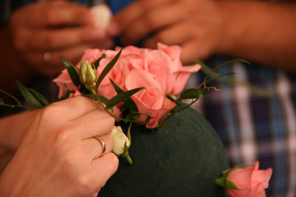 Цветы на пиафлоре