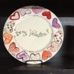 Фото 46: Декор тарелки на 14 февраля