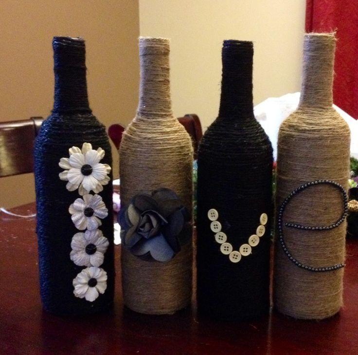 Декорирование бечевкой ваз