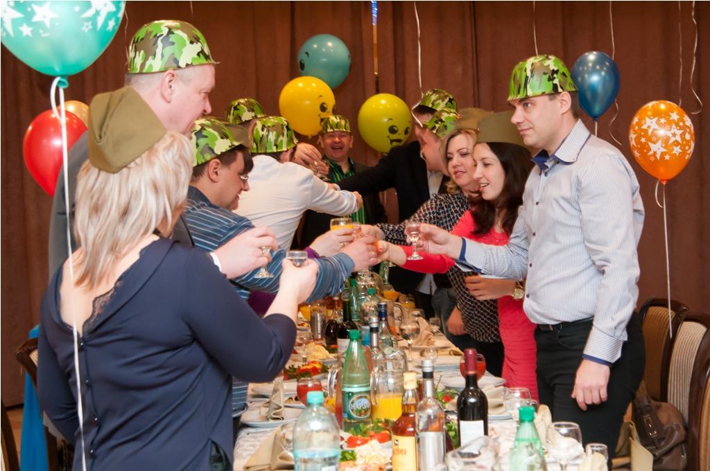 Корпоратив - вечеринка ко Дню Защитника Отечества