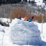 Фото 24: Оборонительная крепость из снега на 23 февраля