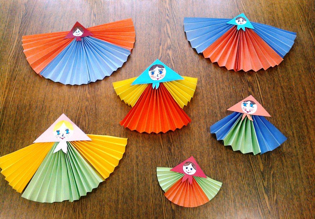 Куколки—масленицы из бумаги