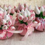 Фото 40: Тканевый букет тюльпанов