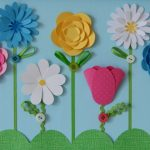 Фото 1: Открытки с цветочными аппликациями