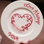 Фото 45: Памятная тарелка на Валентинов день