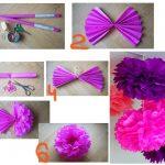 Фото 11: Изготовление гирлянды из шаров из гофрированной бумаги