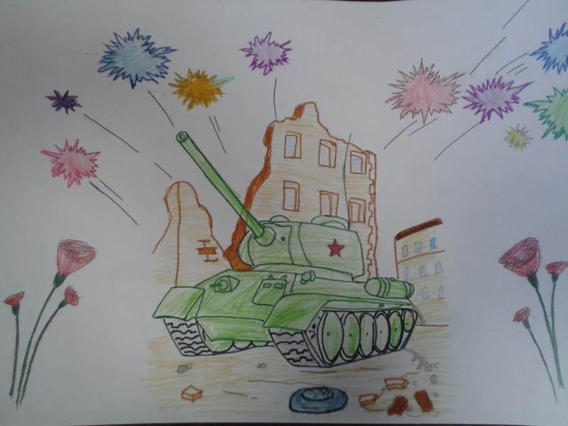 Рисунок танка на 23 февраля