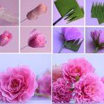 Фото 64: Пышная роза из гофрированной бумаги