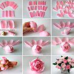 Фото 63: Розы из гофрированной бумаги