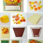 Фото 69: Изготовление открытки с букетом
