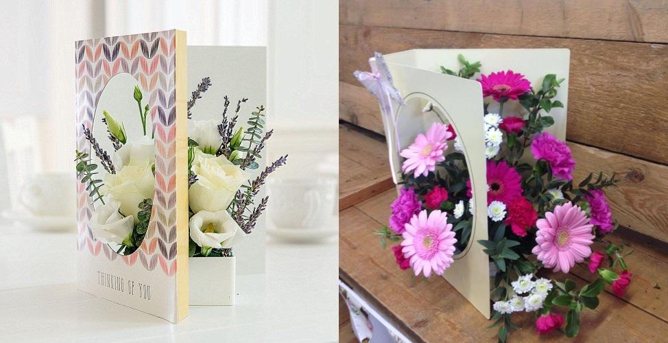 Открытки с живыми цветами