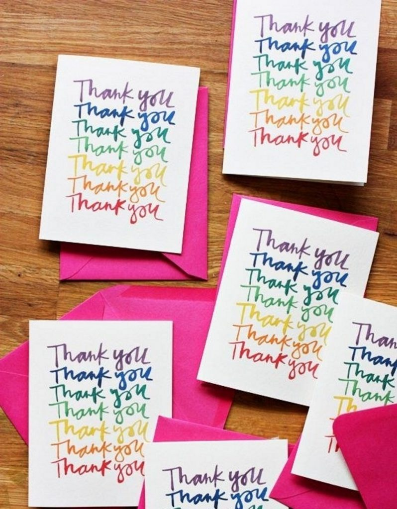 Слова благодарности на открытке