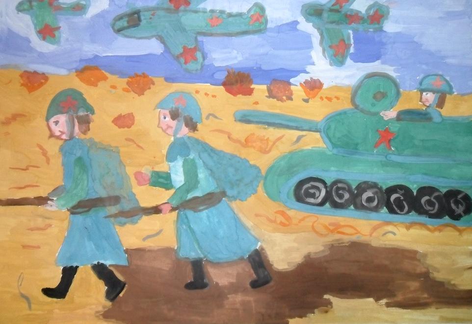 Рисунок сражения ко Дню Защитника Отечества