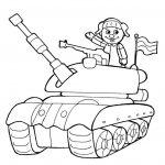 Фото 34: Простой танк с танкистом