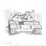 Фото 33: Рисунок танка спереди