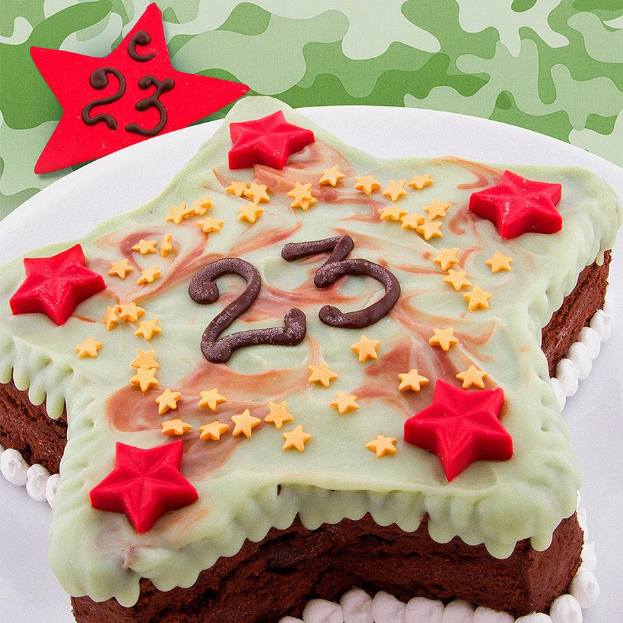 Торт в виде звезды на 23 февраля
