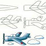 Фото 24: нарисовать самолет