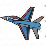 Фото 28: нарисовать самолет