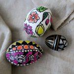Фото 38: Цветной декор яиц маркерами