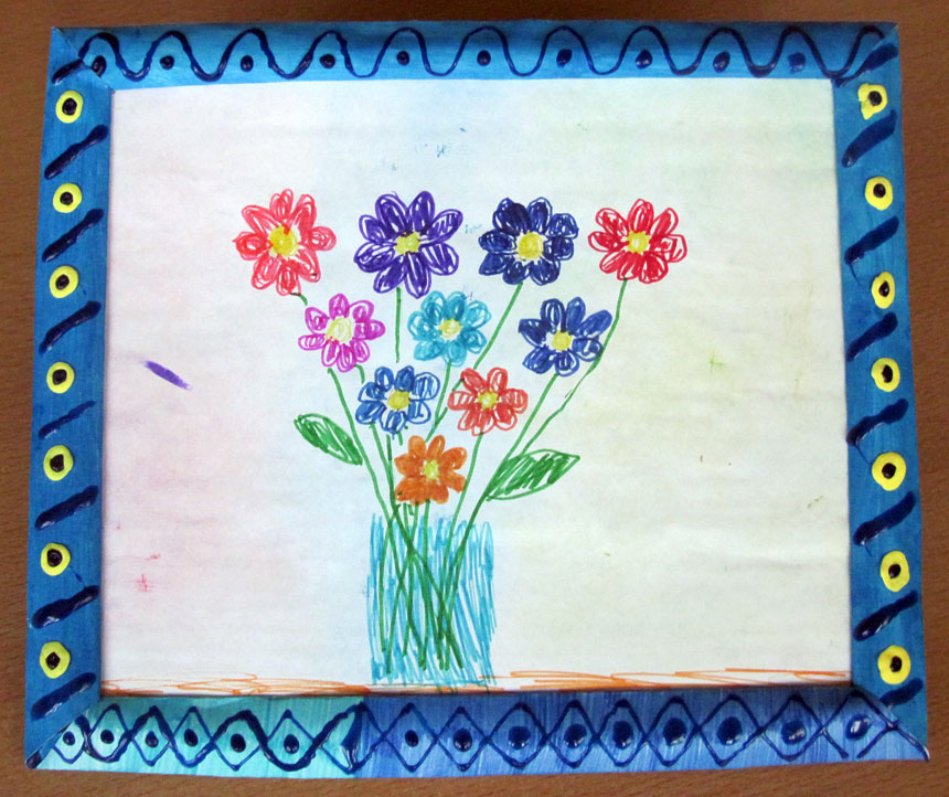 Рисунок в рамке на 8 Марта