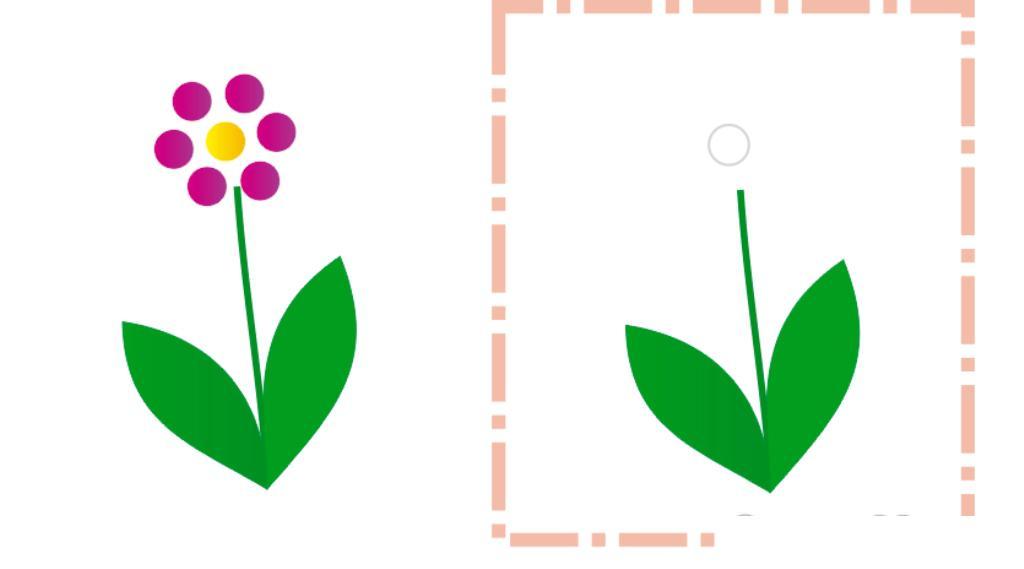 Шаблон цветочка для рисования пальчиками