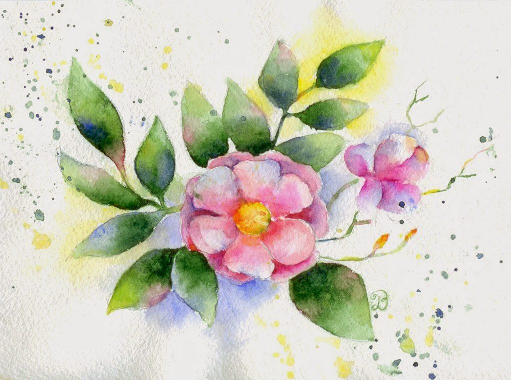 Рисунок красками к 8 Марта