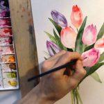 Фото 72: Тюльпаны акварелью