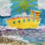 Фото 33: детское творчество акварелью на 23 февраля