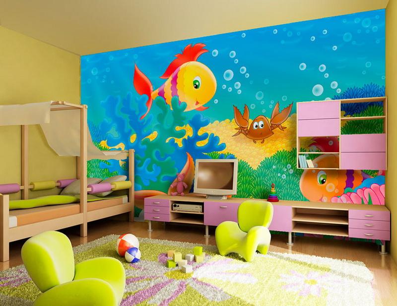 Ковровое покрытие в комнате ребенка призвано уберечь малыша от холода, создать уют и комфорт