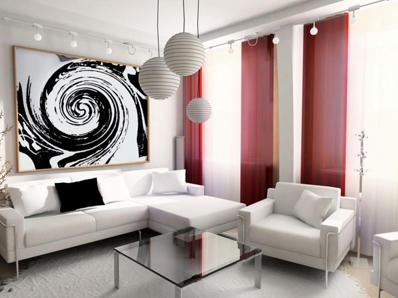 Для маленькой гостиной лучше выбрать светлый однотонный ковер