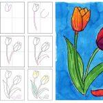 Фото 70: Красочные тюльпаны с лепестками поэтапно