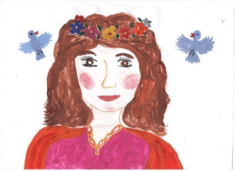 Портрет Мамы на 8 Марта