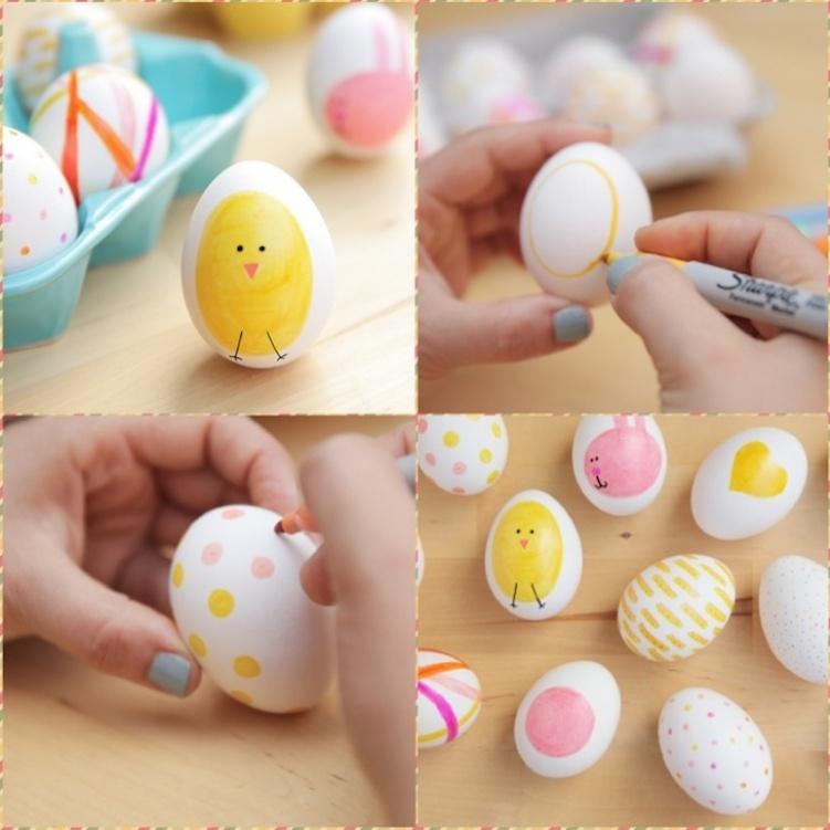 Роспись яиц маркерами