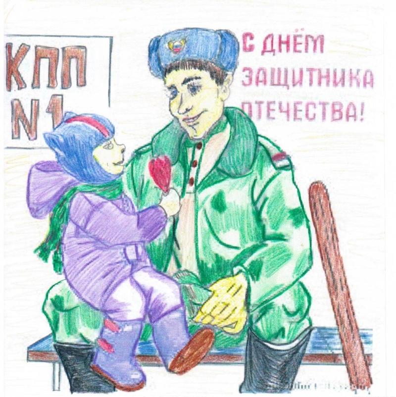 Обычно дети стараются подготовить на 23 февраля рисунки любимым мужчинам