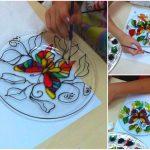 Фото 87: Роспись тарелки витражными красками