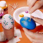 Фото 101: Роспись яиц при помощи зубочисток