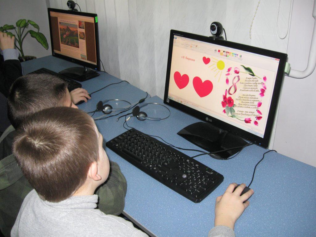 Презентация на 8 Марта в компьютерной программе