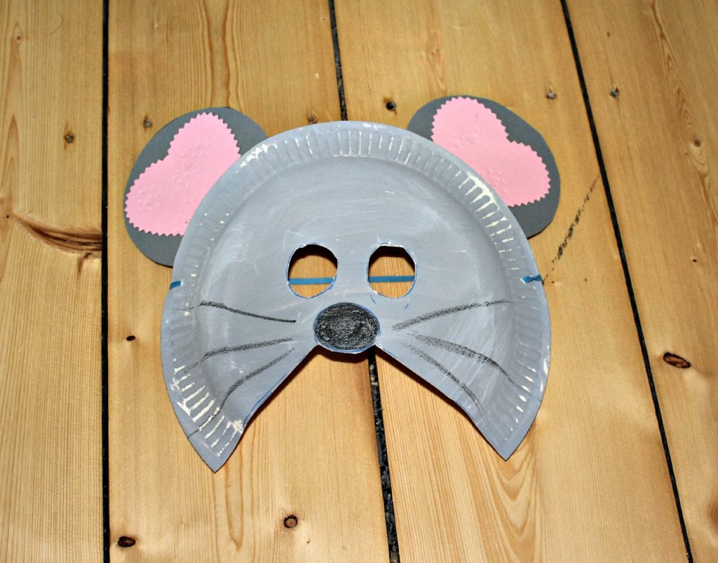 маска из тарелки