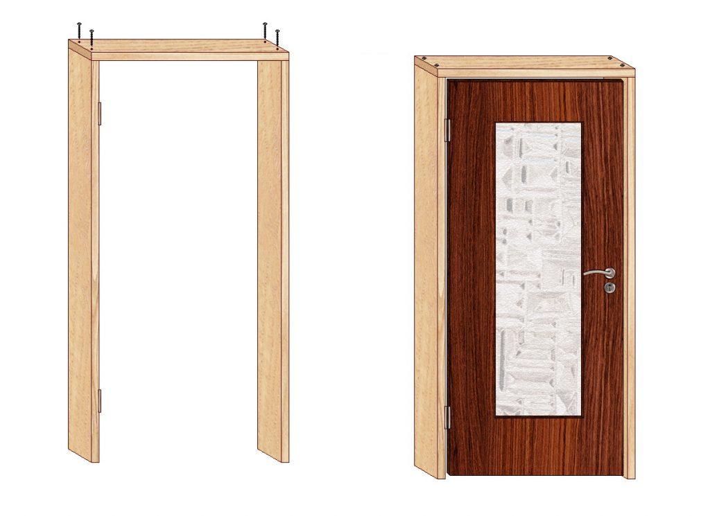 Важно Распаковать приобретённый дверной набор и дверные коробки