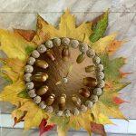 Фото 76: Осенняя поделка часы