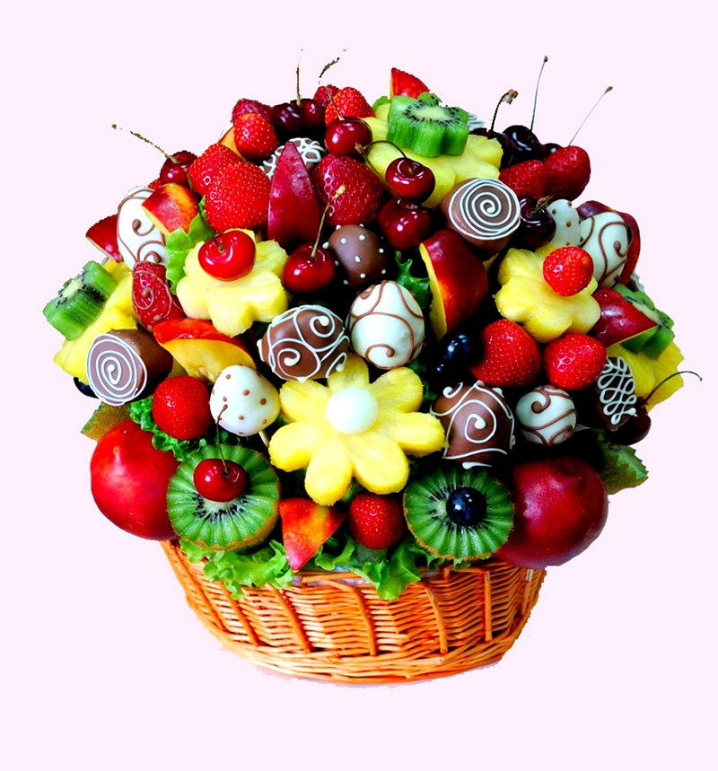 Букет из фруктов своими руками, популярные рецепты, видео инструкция