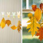 Фото 36: Гирлянда из листьев на прищепках