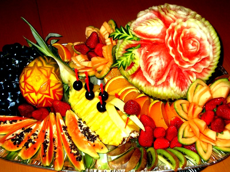карвинг фрукты