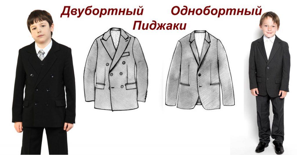 Виды пиджаков