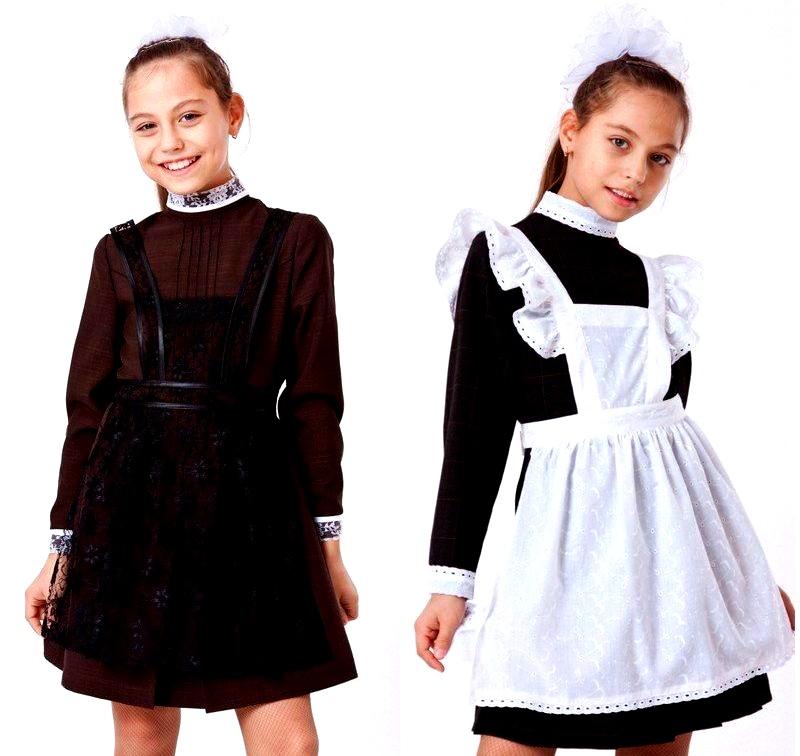 платье с фартуком для девочки