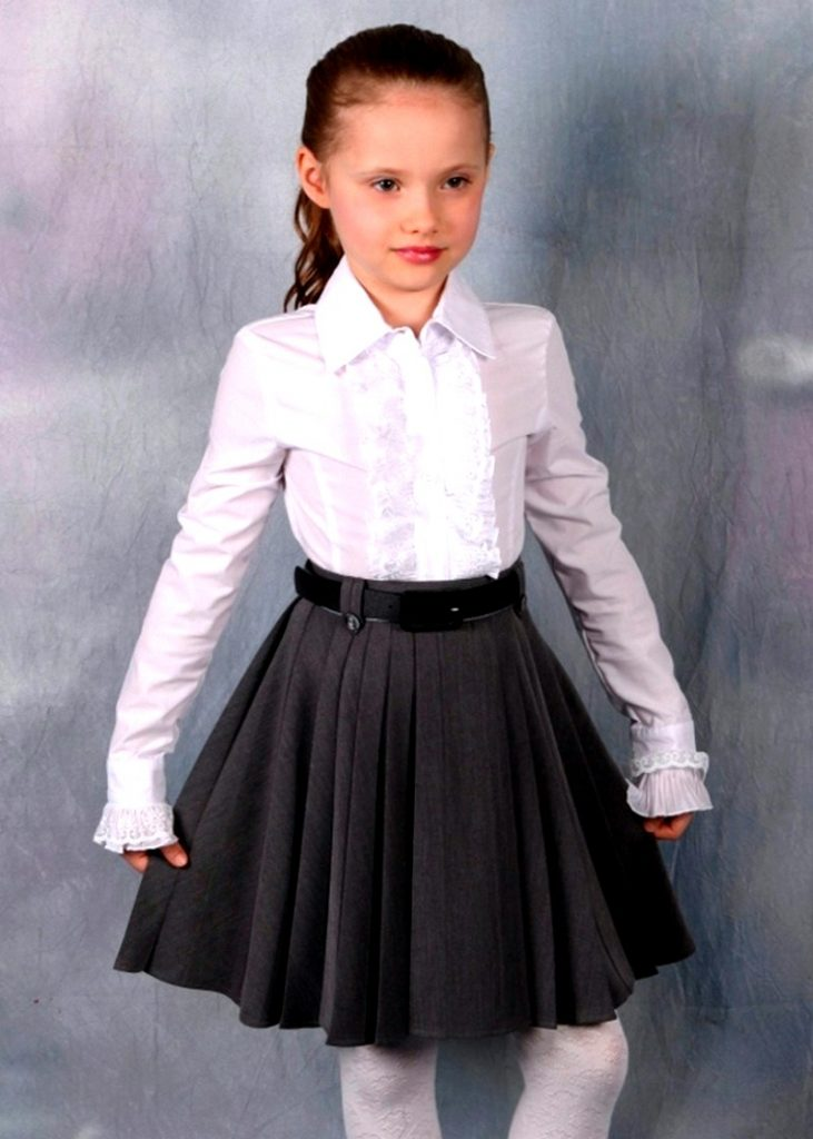 расклешенная юбка для девочки