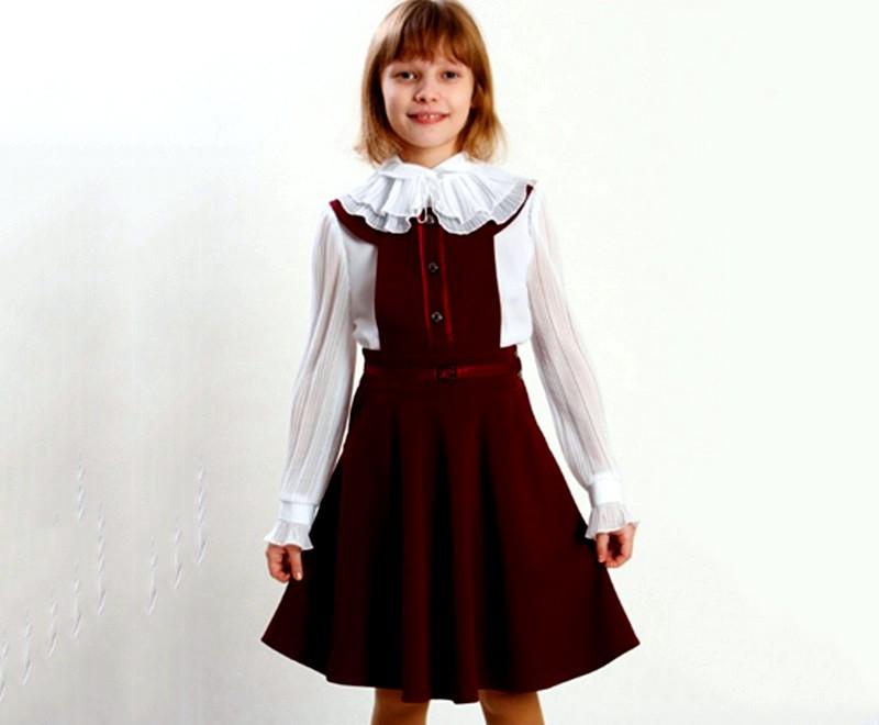 бордовый сарафан для девочки