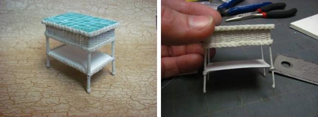Журнальный столик для куклы из бумаги